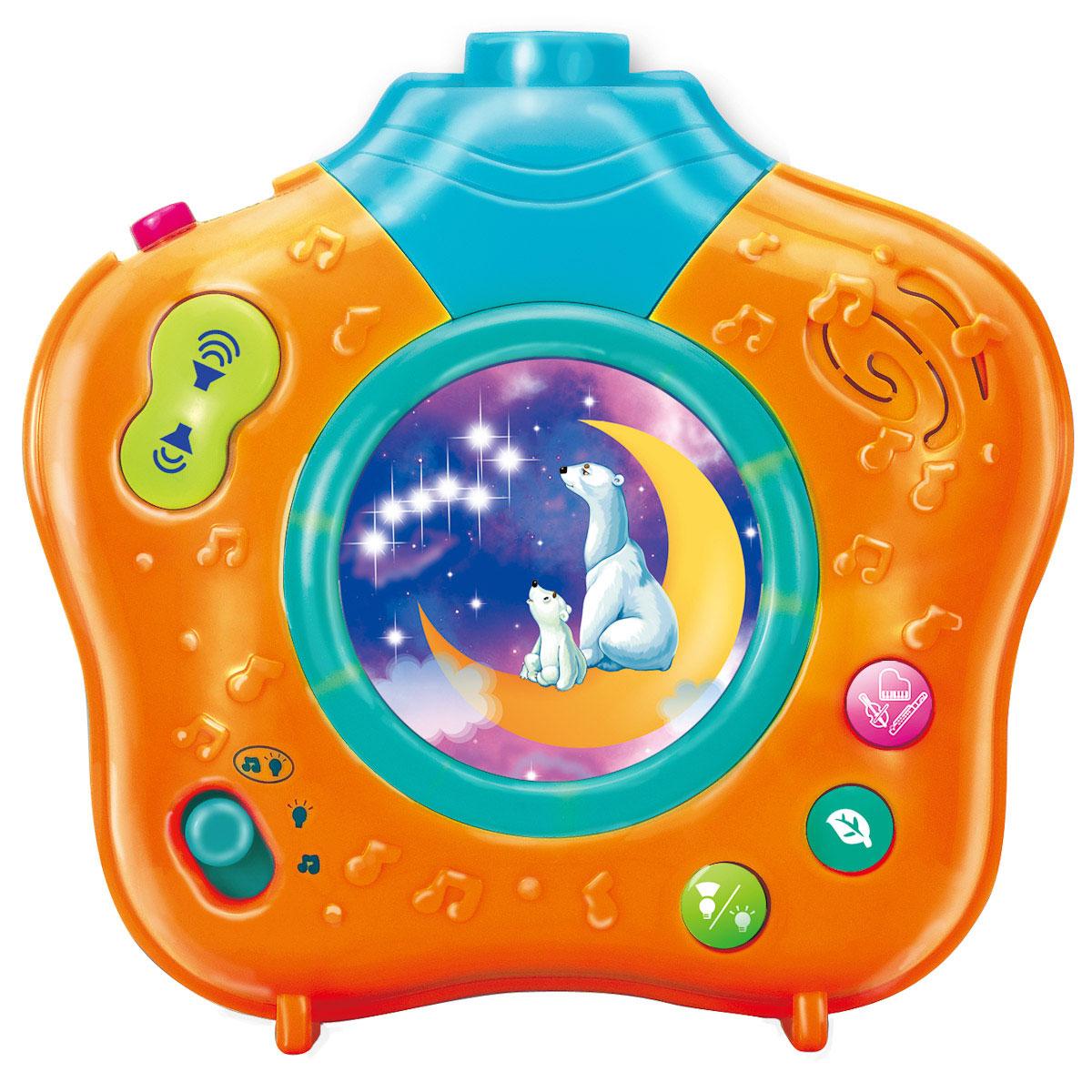 Ночник-проектор Волшебный мир, цвет: желтый0806-07Музыкальный ночник-проектор Волшебный мир с помощью приятных колыбельных и мелодий, звуков природы и мягкого света убаюкает Вашего малыша. Он очень компактный и его можно брать с собой в гости или путешествие.Красочная проекция на потолке движется по кругу, привлекая внимание, успокаивая и завораживая ребенка. В ночнике предусмотрена возможность установить таймер и выбрать режим работы. Приглушенный свет и нежные мелодии создадут сказочную атмосферу в комнате малыша и погрузят его в волшебный мир приятных сновидений!Работает от 3 батареек 1,5 V АА (входят в комплект). Характеристики: Рекомендуемый возраст: от 0 месяцев. Размер ночника: 14 см х 14 см х 8 см. Размер упаковки: 18 см х 23 см х 8,5 см. Изготовитель: Китай. Для работы устройства необходимы 3 батареи напряжением 1,5V типа АА (входят в комплект).