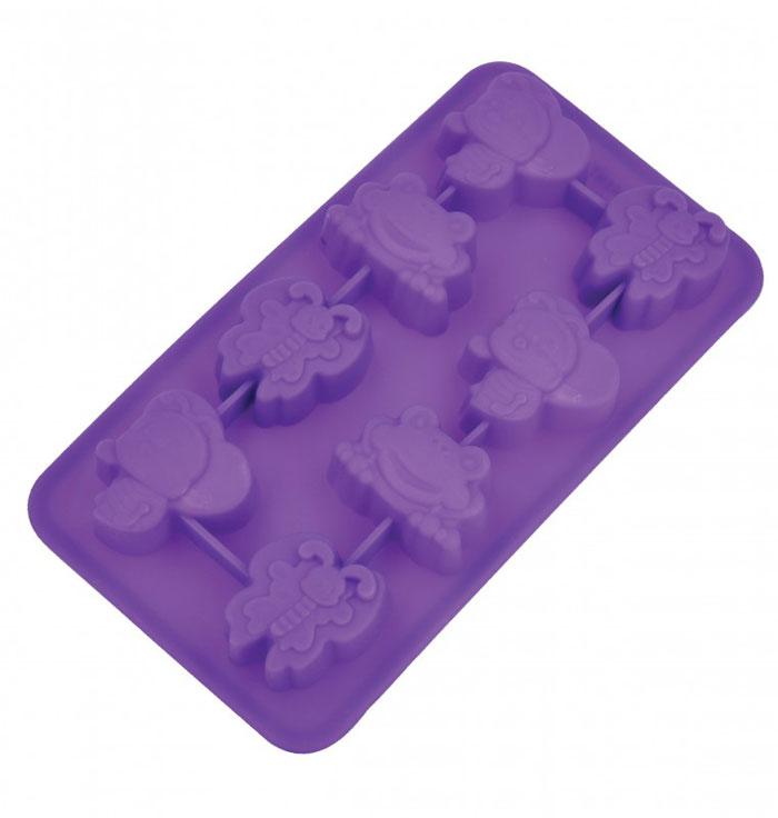 Форма для льда и десерта Фауна, 8 ячеек93-SI-FO-16.11Форма для льда и десерта Фауна выполнена из силикона и предназначена для изготовления конфет, мармелада, желе, льда, выпечки и т.д. Оригинальный способ подачи изделий не оставит равнодушными родных и друзей.Силиконовые формы выдерживают высокие и низкие температуры (от -40°С до +230°С). Они эластичны, износостойки, легко моются, не горят и не тлеют, не впитывают запахи, не оставляют пятен. Силикон абсолютно безвреден для здоровья.Не используйте моющие средства, содержащие абразивы. Можно мыть в посудомоечной машине. Характеристики:Материал: силикон.Размер формы: 19,5 см х 10,5 см х 2,5 см.Цвет: фиолетовый.Артикул: 93-SI-FO-16.11.