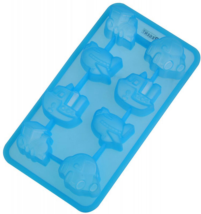 Форма для выпечки и заморозки Regent Inox Путешествие, цвет: синий, 8 ячеек93-SI-FO-16.12Форма для выпечки и заморозки Regent Inox Путешествие выполнена из силикона и предназначена для изготовления конфет, мармелада, желе, льда и выпечки. На одном листе расположено 8 небольших ячеек в форме разнообразных транспортных средств. Оригинальный способ подачи изделий не оставит равнодушными родных и друзей.Силиконовые формы выдерживают высокие и низкие температуры (от -40°С до +230°С). Они эластичны, износостойки, легко моются, не горят и не тлеют, не впитывают запахи, не оставляют пятен. Силикон абсолютно безвреден для здоровья.Не используйте моющие средства, содержащие абразивы. Можно мыть в посудомоечной машине. Подходит для использования во всех типах печей.Формы для выпечки и заморозки Regent Inox - отличный подарок! Они удобны и необходимы любой хозяйке! Характеристики: Материал: силикон. Размер общей формы: 19,5 см х 10,5 см х 2,5 см. Средний размер одной ячейки: 4 см х 3 см. Количество ячеек: 8 шт. Цвет: синий. Артикул: 93-SI-FO-16.12.