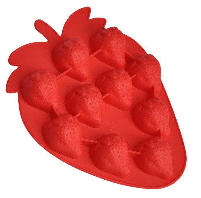 Форма для выпечки и заморозки Regent Inox Клубничка, цвет: красный, 10 ячеек93-SI-FO-16.15Форма для выпечки и заморозки Regent Inox Клубничка выполнена из силикона и предназначена для изготовления конфет, мармелада, желе, льда и выпечки. На одном листе расположено 10 небольших ячеек в форме клубничек. Оригинальный способ подачи изделий не оставит равнодушными родных и друзей. Силиконовые формы выдерживают высокие и низкие температуры (от -40°С до +230°С). Они эластичны, износостойки, легко моются, не горят и не тлеют, не впитывают запахи, не оставляют пятен. Силикон абсолютно безвреден для здоровья. Не используйте моющие средства, содержащие абразивы. Можно мыть в посудомоечной машине. Подходит для использования во всех типах печей.Формы для выпечки и заморозки Regent Inox - отличный подарок! Они удобны и необходимы любой хозяйке! Характеристики: Материал: силикон. Размер общей формы: 19 см х 15,5 см х 2,5 см. Размер одной ячейки: 4 см х 3,3 см. Количество ячеек: 10 шт. Цвет: красный. Артикул: 93-SI-FO-16.15.