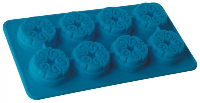 Форма для льда и десерта Regent Inox Узорная, силиконовая, цвет: голубой, 8 ячеек93-SI-FO-16.3Форма для льда и десерта Узорная выполнена из силикона и предназначена для изготовления конфет, мармелада, желе, льда, выпечки и т.д. Оригинальный способ подачи изделий не оставит равнодушными родных и друзей.Силиконовые формы выдерживают высокие и низкие температуры (от -40°С до +230°С). Они эластичны, износостойки, легко моются, не горят и не тлеют, не впитывают запахи, не оставляют пятен. Силикон абсолютно безвреден для здоровья.Не используйте моющие средства, содержащие абразивы. Можно мыть в посудомоечной машине. Характеристики:Материал: силикон. Общий размер формы: 10,5 см х 19 см х 1,5 см. Диаметр одной ячейки: 4 см. Размер упаковки: 30,5 см х 14 см х 2 см. Изготовитель: Италия. Артикул: 93-SI-FO-16.3.