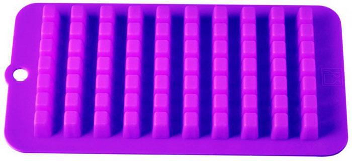 Форма для льда и десерта Кубики, силиконовая, цвет: фиолетовый, 70 ячеек93-SI-FO-16.7Форма для льда и десерта Кубики выполнена из силикона и предназначена для изготовления льда. На одном листе расположено 70 небольших квадратных ячеек.Силиконовые формы выдерживают высокие и низкие температуры (от -40°С до +230°С). Они эластичны, износостойки, легко моются, не горят и не тлеют, не впитывают запахи, не оставляют пятен. Силикон абсолютно безвреден для здоровья.Не используйте моющие средства, содержащие абразивы. Можно мыть в посудомоечной машине. Характеристики:Материал: силикон. Общий размер формы: 21 см х 11 см х 2 см. Размер ячейки: 1 см х 1 см х 2 см. Размер упаковки: 30 см х 12,5 см х 2,2 см. Изготовитель: Италия. Артикул: 93-SI-FO-16.7.