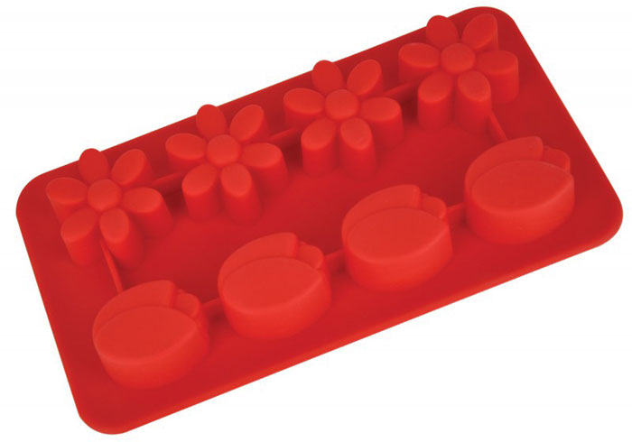 """Форма для выпечки и заморозки Regent Inox """"Цветочки"""" выполнена из силикона и предназначена для изготовления конфет, мармелада, желе, льда и выпечки. На одном листе расположено 8 небольших ячеек в форме цветов. Оригинальный способ подачи изделий не оставит равнодушными родных и друзей.   Силиконовые формы выдерживают высокие и низкие температуры (от -40°С до +230°С). Они эластичны, износостойки, легко моются, не горят и не тлеют, не впитывают запахи, не оставляют пятен. Силикон абсолютно безвреден для здоровья.   Не используйте моющие средства, содержащие абразивы. Можно мыть в посудомоечной машине. Подходит для использования во всех типах печей.    Формы для выпечки и заморозки """"Regent Inox"""" - отличный подарок! Они удобны и необходимы любой хозяйке! Характеристики:   Материал: силикон. Размер общей формы: 19,5 см х 10,5 см х 2,5 см. Средний размер одной ячейки: 3 см х 3 см. Количество ячеек: 8 шт. Цвет: красный. Артикул: 93-SI-FO-16.8.   Как выбрать форму для выпечки – статья на OZON Гид."""