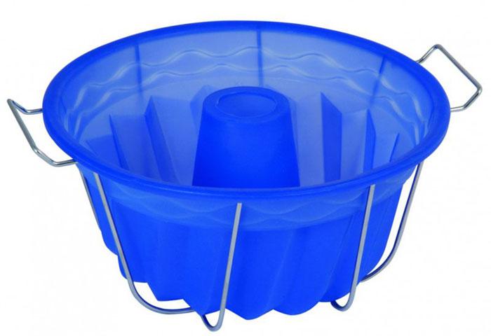 Форма для выпечки и заморозки Regent Inox Кугельхопф, силиконовая, на металлической подставке, цвет: синий, диаметр 23 см93-SI-FO-21Форма для выпечки и заморозки Кугельхопф выполнена из силикона, снабжена удобной металлической подставкой с ручками. Предназначена для изготовления выпечки, желе, морженого и т.д.Силиконовые формы выдерживают высокие и низкие температуры (от -40°С до +230°С). Они эластичны, износостойки, легко моются, не горят и не тлеют, не впитывают запахи, не оставляют пятен. Силикон абсолютно безвреден для здоровья.Не используйте моющие средства, содержащие абразивы. Можно мыть в посудомоечной машине. Подходит для использования во всех типах печей. Характеристики:Материал: силикон. Общий размер формы: 23 см х 23 см х 10 см. Размер подставки ( с учётом ручек: 27 см х 22 см х 11,5 см. Размер упаковки: 50 см х 27 см х 12 см. Изготовитель: Италия. Артикул: 93-SI-FO-21.