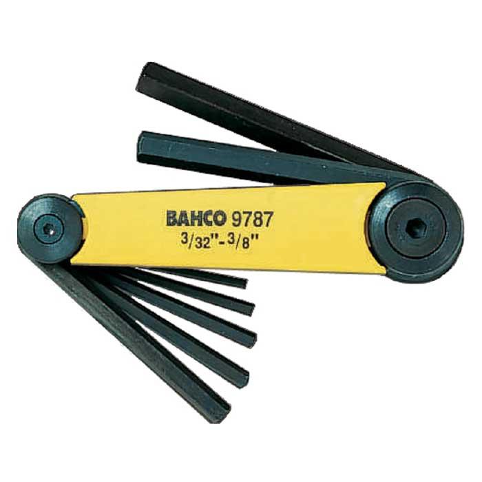 Набор шестигранных ключей Bahco, 3/32-3/8, 7 штBE-9787Набор из шестигранных ключей Bahco предназначены для работ с винтами, оснащенными внутренним шестигранным гнездом метрических размеров. В набор входят 7 ключей разных размеров. Набор шестигранных ключей Bahco - незаменимый предмет в Вашем хозяйстве. Характеристики: Материал: пластик, металл. Размеры ключей: 3/32, 1/8, 5/32, 3/16, 1/4, 5/16, 3/8. Размеры упаковки: 23 см х 7 см х 4 см.