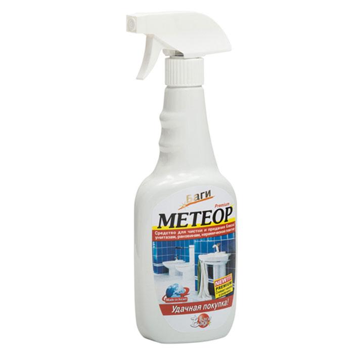Средство для сантехники Bagi Метеор, 500 млBG-B-395163-0Средство Bagi Метеор предназначено для чистки и придания блеска унитазам, раковинам, керамической плитке и кранам. Эффективно очищает, дезинфицирует и придает блеск, снимает накипь и ржавчину, удаляет стойкие пятна, грязь, остатки мыла, придает приятный аромат. Характеристики: Объем: 500 мл. Артикул: BG-B-395163-0. Товар сертифицирован.