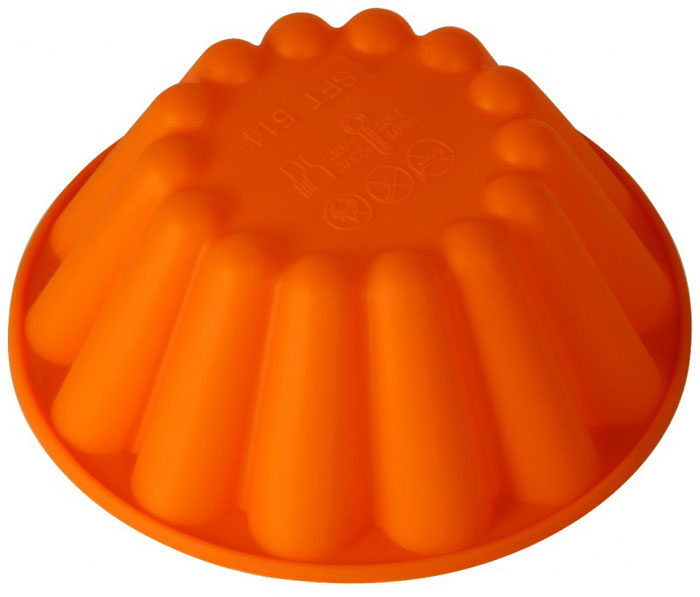 Форма для выпечки и заморозки Regent Inox Ром-баба, цвет: оранжевый, диаметр 15 см93-SI-FO-30Форма для выпечки и заморозки Regent Inox Ром-баба выполнена из качественного пищевого силикона. Силиконовая форма имеет много преимуществ по сравнению с традиционными металлическими и алюминиевыми формами. Она идеально подходит для использования в микроволновых, газовых и электрических печах при температурах до 230°С. В случае заморозки до -40°С. По сравнению с традиционными формами и противнями, высокая теплопроводность силикона позволяет выпекать изделие при более низкой температуре, за более короткое время. Готовое изделие (выпеченное или замороженное) легко извлекается из формы, благодаря ее гибкости и антиприлипающим свойствам. Форма абсолютно безвредна для здоровья. Ее можно мыть в посудомоечной машине. Характеристики: Материал: силикон. Диаметр формы: 15 см. Высота стенки: 5 см. Цвет: оранжевый. Артикул: 93-SI-FO-30.