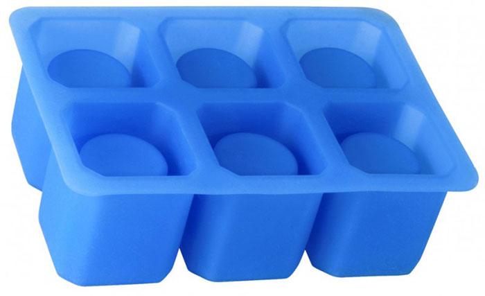"""Форма """"Linea Silicone"""" выполнена из силикона и предназначена для изготовления шести ледяных стопок. Оригинальный способ подачи напитков позволит провести незабываемый вечер в кругу друзей.   Способ применения: заполните форму питьевой водой и поместите в морозильную камеру. Ледяные стопки легко извлекаются из формы после замерзания воды.   Силиконовые формы выдерживают высокие и низкие температуры (от -40°С до +230°С). Они эластичны, износостойки, легко моются, не горят и не тлеют, не впитывают запахи, не оставляют пятен. Силикон абсолютно безвреден для здоровья.   Не используйте моющие средства, содержащие абразивы. Можно мыть в посудомоечной машине. Характеристики:    Материал: силикон.  Объем 1 стопки: 30 мл.  Размер формы: 16 см х 11 см х 5 см.  Цвет: синий.  Артикул: 93-SI-FO-31."""