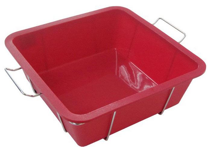 Форма для выпечки и заморозки Regent Inox Каннеллони, силиконовая, на подставке, цвет: красный, 24 см х 24 см х 8 см93-SI-FO-84Форма для выпечки и заморозки Каннеллони выполнена из силикона, снабжена удобной металлической подставкой с ручками. Предназначена для изготовления выпечки, желе, морженого и т.д.Силиконовые формы выдерживают высокие и низкие температуры (от -40°С до +230°С). Они эластичны, износостойки, легко моются, не горят и не тлеют, не впитывают запахи, не оставляют пятен. Силикон абсолютно безвреден для здоровья.Не используйте моющие средства, содержащие абразивы. Можно мыть в посудомоечной машине. Подходит для использования во всех типах печей. Характеристики:Материал: силикон. Общий размер формы: 24 см х 24 см х 8 см. Размер подставки (с учётом ручек): 28,5 см х 22 см х 7,5 см. Размер упаковки: 36,5 см х 24 см х 8 см. Изготовитель: Италия. Артикул: 93-SI-FO-84.