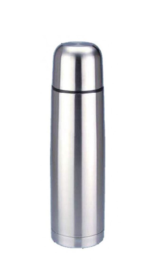 Термос Regent Inox Bullet, 1 л. 93-TE-B-1-100093-TE-B-1-1000Термос Regent Inox Bullet изготовлен из высококачественной пищевой нержавеющей стали с глянцевой и матовой полировкой, что обеспечивает высокую надежность и долговечность. Современная технология с вакуумной изоляцией и металлическая колба, способствуют более длительному сохранению тепла. Через 24 часа температура жидкости в термосе станет равна 48-50°С при условии, что температура окружающей среды не ниже 18°С, а температура жидкости при заполнении не ниже +99°С. Regent Inox Bullet оснащен пластиковой пробкой с удобным кнопочным механизмом - напитки можно наливать, открутив крышку и нажав на кнопку, а крышку можно использовать как чашку.Термос удобен в использовании дома, на даче, в турпоходе и на рыбалке. Пригодится на работе, в офисе и командировке, экономит электроэнергию и время. К термосу прилагается чехол из искусственной кожи. Характеристики:Материал: пластик, нержавеющая сталь, резина. Объем: 1 л. Диаметр термоса: 8,5 см. Высота термоса (с учётом крышки): 30,5 см. Диаметр горлышка: 5 см. Размер упаковки: 9,5 см х 9,5 см х 33 см. Артикул: 93-TE-B-1-1000