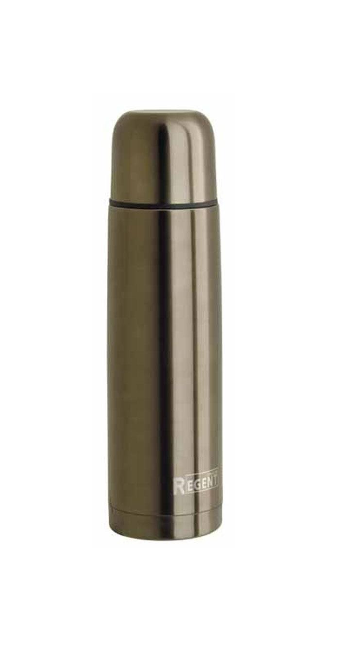 Термос Regent Inox, 1 л, цвет: светло-коричневый. TE-B-1-1000B93-TE-B-1-1000BТермос Regent Inox изготовлен из высококачественной пищевой нержавеющей стали с современной технологией теплоизолляции и цветным покрытием Soft Touch. Высокая надёжность и долговечность. Имеется глубокий вакуум и двойная металлическая колба, способствующая более длительному сохранению тепла. Термос удобен в использовании дома, на даче, в турпоходе и на рыбалке. Пригодится на работе, в офисе и командировке, экономит электроэнергию и время. Прилагается чехол из кожзама, на ремне. Характеристики:Материал: пластик, нержавеющая сталь, покрытие Soft Touch. Объем: 1 л. Диаметр термоса: 8 см. Высота термоса (с учётом крышки): 30,5 см. Размер упаковки: 9 см х 9 см х 31 см. Артикул: 93-TE-B-1-1000B.