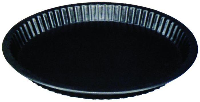 Форма для пирога Regent Inox Easy. Диаметр 31 см93-CS-EA-3-02Форма для пирога Regent Inox Easy с волнистыми внутренними краями выполнена из высококачественной углеродистой стали и снабжена антипригарным керамическим покрытием, что обеспечивает форме прочность и долговечность.Форма равномерно и быстро прогревается, что способствует лучшему пропеканию пищи. Данную форму легко чистить. Готовая выпечка без труда извлекается из формы.Форма подходит для использования в духовке с максимальной температурой 250°С.Перед каждым использованием форму необходимо смазать небольшим количеством масла. Чтобы избежать повреждений антипригарного покрытия, не используйте металлические или острые кухонные принадлежности. Можно мыть в посудомоечной машине. Характеристики:Материал: углеродистая сталь, керамическое покрытие.Цвет: черный.Внешний диаметр: 31 см.Высота стенок: 3 см.Артикул: 93-CS-EA-3-02.