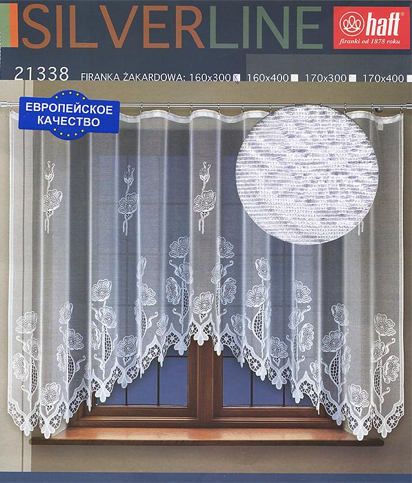 Гардина Haft, на ленте, цвет: белый, высота 160 см. 637219637219Воздушная гардина Haft, изготовленная из полиэстера белого цвета, станет великолепным украшением любого окна. Оригинальный цветочный рисунок привлечет к себе внимание и органично впишется в интерьер комнаты. В гардину вшита шторная лента. Характеристики:Материал: 100% полиэстер. Размер упаковки:37 см х 28 см х 3 см. Цвет: белый. Артикул: 637219.В комплект входит: Гардина - 1 шт. Размер (Ш х В): 300 см х 160 см. Текстильная компания Haft имеет богатую историю. Основанная в 1878 году в Польше, эта фирма зарекомендовала себя в качестве одного из лидеров текстильной промышленности в Европе. Еще в начале XX века фабрика Haft производила 90% всех текстильных изделий в своей стране, с годами производство расширялось, накопленный опыт позволял наиболее выгодно использовать развивающиеся технологии. Главный ассортимент компании - это тюль и занавески. Haft предлагает готовые решения дляваших окон, выпуская готовые наборы штор, которые остается только распаковать и повесить. Модельный ряд отличает оригинальный дизайн, высокое качество. Занавески, шторы, гардины Haft долговечны, прочны, практически не сминаемы, они не притягивают пыль и за ними легко ухаживать.Вся продукция бренда Haft выполнена на современном оборудовании из лучших материалов.
