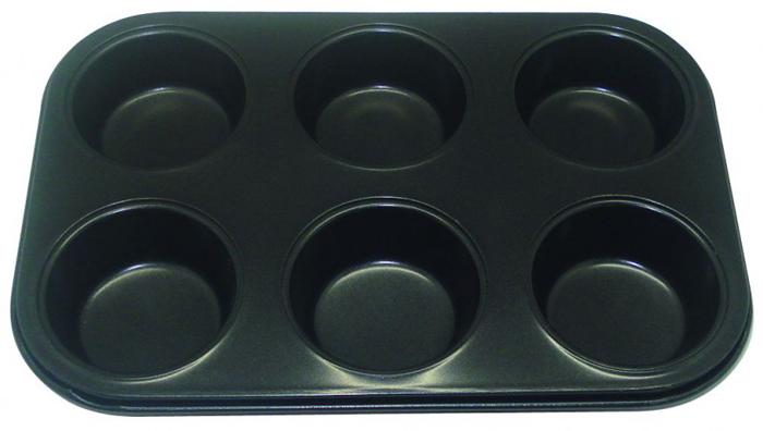 Форма для кексов Regent Inox Easy, 6 ячеек, 27 х 18 х 3 см93-CS-EA-4-08Форма для выпечки Regent Inox Easy состоит из шести небольших ячеек. Выполнена из высококачественной углеродистой стали и снабжена антипригарным керамическим покрытием, что обеспечивает форме прочность и долговечность.Форма равномерно и быстро прогревается, что способствует лучшему пропеканию пищи. Данную форму легко чистить. Готовая выпечка без труда извлекается из формы.Форма подходит для использования в духовке с максимальной температурой 250°С.Перед каждым использованием форму необходимо смазать небольшим количеством масла. Чтобы избежать повреждений антипригарного покрытия, не используйте металлические или острые кухонные принадлежности. Можно мыть в посудомоечной машине.