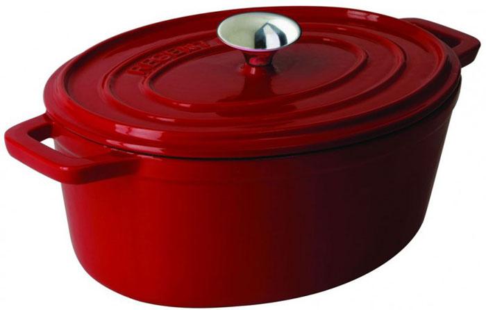 Жаровня Regent Inox Ferro Smalta, с крышкой, цвет: красный, 4,6 л. Диаметр 22 см93-FEs-8-29Жаровня красного цвета Regent Inox Ferro Smalto изготовлена из чугуна, прокаленного в пищевом жире, благодаря чему повышаются антипригарные свойства изделия. Чугун - это долговечный, натуральный, экологически чистый, прочный и устойчивый к деформации материала. Чугун не боится перекаливания при нагреве, обладает высокой теплоемкостью. В такой посуде можно жарить, тушить, запекать, варить, но особенно вкусно получаются блюда, которые нужно потомить, например, плов. Внешнее и внутренне покрытие - высококачественная глянцевая эмаль. Отвечает всем санитарно-гигиеническим нормам. Позволяет хранить пищу в посуде, в том числе в холодильнике. Жаровня оснащена крышкой и удобными ручками. Можно готовить в печи или духовке, при этом обязательно используя прихватки. Подходит для всех типов плит, включая индукционные. Можно мыть в посудомоечной машине. Характеристики: Материал: чугун. Общий объем: 4,6 л. Внутренний диаметр: 22 см. Высота стенки: 11 см. Ширина с учетом ручек: 29 см. Размер упаковки: 36 см х 23,5 см х 13,5 см. Артикул: 93-FEs-8-29.