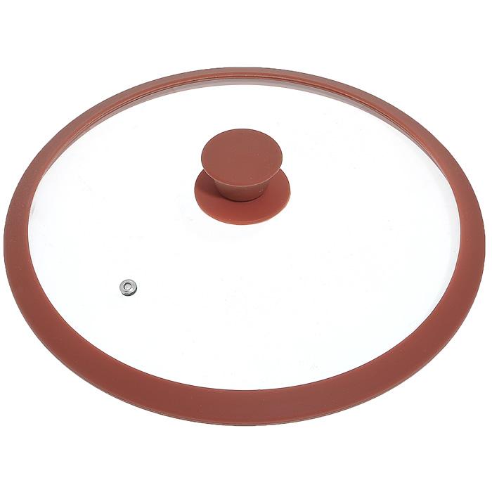 Крышка стеклянная Winner, цвет: коричневый. Диаметр 30 смWR-8307Крышка Winner изготовлена из термостойкого стекла с ободом из силикона. Крышка оснащена отверстием для выпуска пара. Ручка, выполненная из термостойкого бакелита с силиконовым покрытием, защищает ваши руки от высоких температур. Крышка удобна в использовании и позволяет контролировать процесс приготовления пищи. Характеристики:Материал:стекло, силикон, бакелит. Диаметр: 30 см. Изготовитель: Германия. Производитель: Китай.