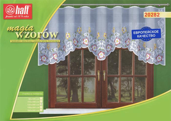 Гардина Haft, на ленте, цвет: белый, высота 135 см. 537342537342Воздушная гардина Haft, изготовленная из полиэстера белого цвета, станет великолепным украшением любого окна. Оригинальный цветочный рисунок привлечет к себе внимание и органично впишется в интерьер комнаты. В гардину вшита шторная лента. Характеристики:Материал: 100% полиэстер. Размер упаковки:37 см х 28 см х 3 см. Цвет: белый. Артикул: 537342.В комплект входит: Гардина - 1 шт. Размер (Ш х В): 300 см х 135 см. Текстильная компания Haft имеет богатую историю. Основанная в 1878 году в Польше, эта фирма зарекомендовала себя в качестве одного из лидеров текстильной промышленности в Европе. Еще в начале XX века фабрика Haft производила 90% всех текстильных изделий в своей стране, с годами производство расширялось, накопленный опыт позволял наиболее выгодно использовать развивающиеся технологии. Главный ассортимент компании - это тюль и занавески. Haft предлагает готовые решения дляваших окон, выпуская готовые наборы штор, которые остается только распаковать и повесить. Модельный ряд отличает оригинальный дизайн, высокое качество. Занавески, шторы, гардины Haft долговечны, прочны, практически не сминаемы, они не притягивают пыль и за ними легко ухаживать.Вся продукция бренда Haft выполнена на современном оборудовании из лучших материалов.