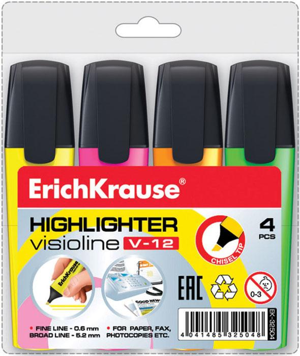 Набор текстмаркеров Erich Krause V-12, 4 штEK32504Набор текстмаркеров Erich Krause V-12 подойдет для выделения текстов на разных видах бумаги, в том числе на бумаге для факсов и копировальных машин, и станет незаменимым атрибутом работы в офисе.В набор входят четыре текстмаркера розового, желтого, оранжевого, салатового цветов. Скошенный пишущий узел позволяет варьировать ширину письма. Широкое перо 5,2 мм удобно для выделения текста, а тонкое 0,6 мм Текстмаркеры с клиновидным острием обладают яркими, насыщенными цветами и четкими контурами. Характеристики:Размер текстмаркера: 11 см x 2,5 см x 1,5 см. Толщина линии: 0,6 мм - 5,2 мм. Размер упаковки: 13 см x 12,5 см x 2 см. Изготовитель: Малайзия.