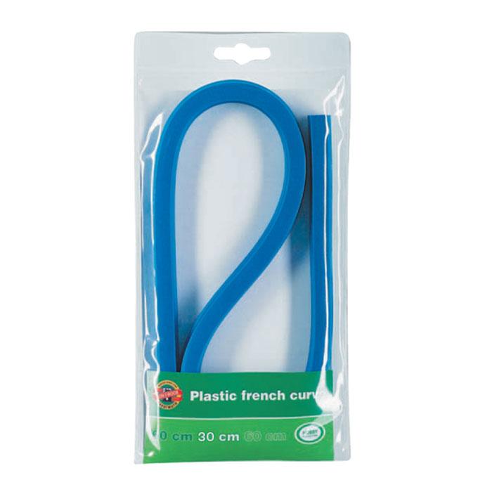 Лекало гибкое Koh-I-Noor, 30 см0717008Лекало Koh-I-Noor, выполненное из гибкого пластика синего цвета, позволит вам относительно точно строить участки таких кривых, как эллипс, парабола, гипербола, различные спирали. Характеристики:Длина лекало: 30 см. Размер упаковки: 11,5 см х 21 см х 1 см.