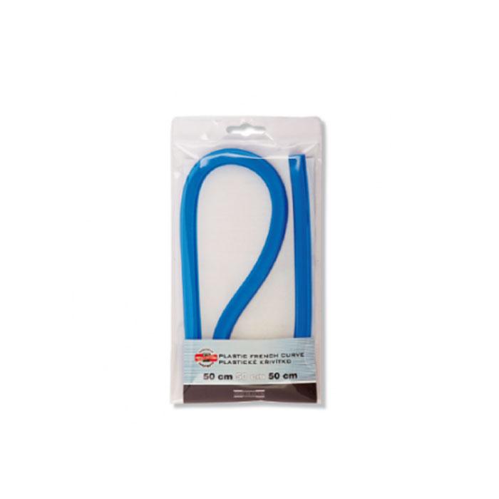 Лекало гибкое Koh-I-Noor, 50 см0717028Лекало Koh-I-Noor, выполненное из гибкого пластика синего цвета, позволит вам относительно точно строить участки таких кривых, как эллипс, парабола, гипербола, различные спирали. Характеристики:Длина лекало: 50 см. Размер упаковки: 11,5 см х 21 см х 1 см.