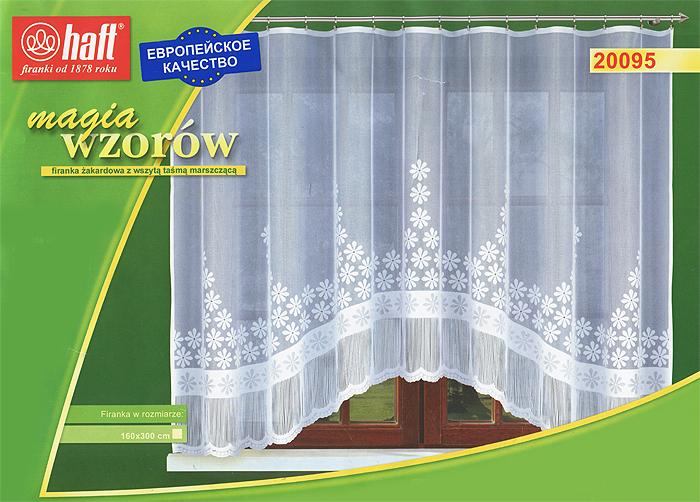 Гардина Haft, на ленте, цвет: белый, высота 160 см. 515845515845Воздушная гардина Haft, изготовленная из полиэстера белого цвета, станет великолепным украшением любого окна. Оригинальный цветочный принт и эффектная бахрома по краю привлекут к себе внимание и органично впишутся в интерьер комнаты. В гардину вшита шторная лента. Характеристики:Материал: 100% полиэстер. Размер упаковки:37 см х 28 см х 3 см. Цвет: белый. Артикул: 515845.В комплект входит: Гардина - 1 шт. Размер (Ш х В): 300 см х 160 см. Текстильная компания Haft имеет богатую историю. Основанная в 1878 году в Польше, эта фирма зарекомендовала себя в качестве одного из лидеров текстильной промышленности в Европе. Еще в начале XX века фабрика Haft производила 90% всех текстильных изделий в своей стране, с годами производство расширялось, накопленный опыт позволял наиболее выгодно использовать развивающиеся технологии. Главный ассортимент компании - это тюль и занавески. Haft предлагает готовые решения дляваших окон, выпуская готовые наборы штор, которые остается только распаковать и повесить. Модельный ряд отличает оригинальный дизайн, высокое качество. Занавески, шторы, гардины Haft долговечны, прочны, практически не сминаемы, они не притягивают пыль и за ними легко ухаживать.Вся продукция бренда Haft выполнена на современном оборудовании из лучших материалов.