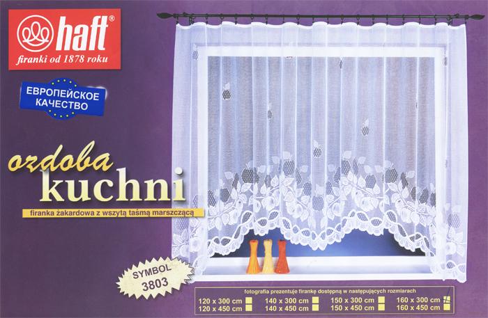 Гардина Haft, на ленте, цвет: белый, высота 160 см. 388104388104Воздушная гардина Haft, изготовленная из полиэстера белого цвета, станет великолепным украшением любого окна. Оригинальный рисунок и нежный орнамент привлечет к себе внимание и органично впишется в интерьер комнаты. В гардину вшита шторная лента. Характеристики:Материал: 100% полиэстер. Размер упаковки:37 см х 28 см х 3 см. Цвет: белый. Артикул: 388104.В комплект входит: Гардина - 1 шт. Размер (Ш х В): 300 см х 160 см. Текстильная компания Haft имеет богатую историю. Основанная в 1878 году в Польше, эта фирма зарекомендовала себя в качестве одного из лидеров текстильной промышленности в Европе. Еще в начале XX века фабрика Haft производила 90% всех текстильных изделий в своей стране, с годами производство расширялось, накопленный опыт позволял наиболее выгодно использовать развивающиеся технологии. Главный ассортимент компании - это тюль и занавески. Haft предлагает готовые решения дляваших окон, выпуская готовые наборы штор, которые остается только распаковать и повесить. Модельный ряд отличает оригинальный дизайн, высокое качество. Занавески, шторы, гардины Haft долговечны, прочны, практически не сминаемы, они не притягивают пыль и за ними легко ухаживать.Вся продукция бренда Haft выполнена на современном оборудовании из лучших материалов.