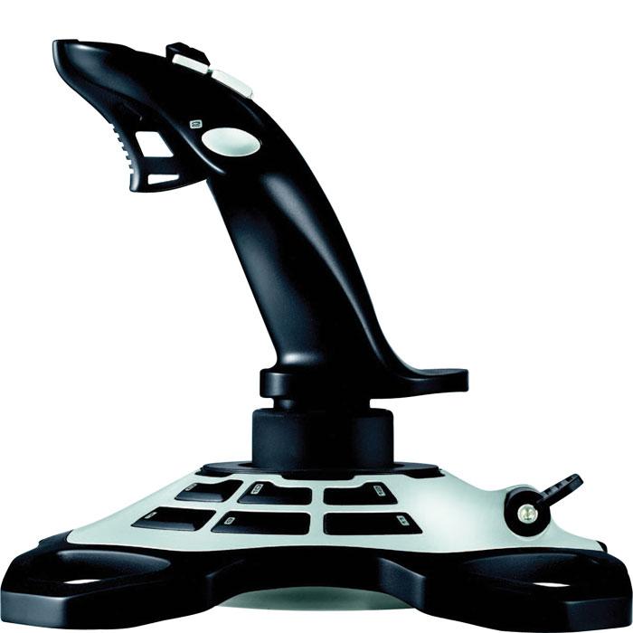 Logitech Extreme 3D Pro Joystick джойстик (942-000031)942-000031Джойстик Logitech Extreme 3D Pro Joystick. Главное — удобство для рук: Исследования показали, что при сложных полетах важнее всего интуиция и время реакции. Чтобы помочь пилотам, специалисты из нашей лаборатории разработали специальную поворотную рукоятку для джойстика Extreme 3D Pro, которая позволяет обеспечить непринужденное управление одной рукой при компактных размерах устройства. Настройте свой боевой комплекс: С джойстиком Extreme 3D Pro все команды будут у вас под рукой и именно там, где Вы хотите, чтобы Вы могли не отрывать глаз от линии горизонта. Каждую программируемую кнопку можно настроить для выполнения простых одиночных команд или сложных макросов с функцией нескольких нажатий клавиш, событий мыши и других элементов. Включите большой палец в работу: Быстро и легко переключайтесь с обзора места боя на оружие и другие элементы. 8-позиционный переключатель предназначен для точного распознавания специальных команд, характерных для авиа симуляторов. Захватите цель и дайте себе волю: Нажимать на спусковой курок Extreme 3D Pro можно так быстро, как хочется или требуется. Будьте уверены, что каждое движение пальца будет распознано и ни один выстрел не будет пропущен. Наслаждайтесь полетом: Даже после многих часов игры вы не ощутите дискомфорта, выполняя задания одно за другим и сбивая все больше противников. Изящные контуры словно подстраиваются под форму вашей руки, обеспечивая комфорт для многочасовых полетов. Знает свое место: Обширное исследование показало, что ерзание джойстика по всему столу в важные моменты игры вредит эффективности. Мощная подставка будет стоять на столе, не наклоняясь и не опрокидываясь, как бы активны вы ни были.