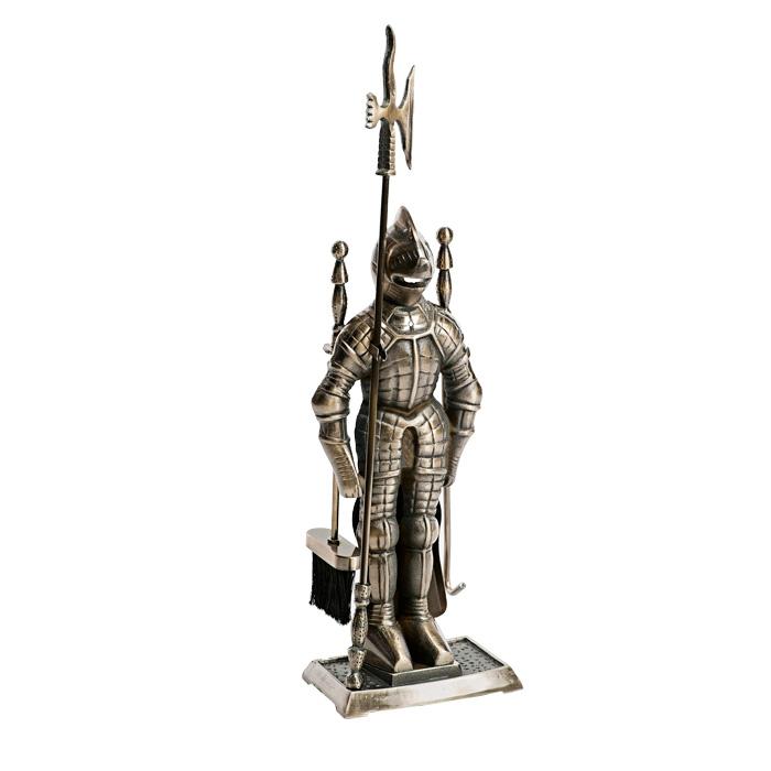 """Набор для камина """"Рыцарь"""", 4 предмета. 62027"""