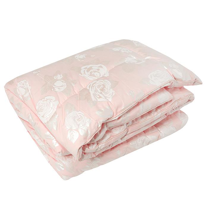 Одеяло Лебяжий пух, наполнитель: полиэстер, 172 см х 205 см, в ассортименте одеяло lara home лебяжий пух всесезонное наполнитель искусственный лебяжий пух цвет белый 200 х 220 см