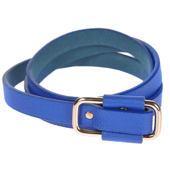 Ремень женский Fancys Bag, цвет: синий. FB-1220-60FB-1220-60Стильный ремень станет удачным дополнением для тех, кто ценит качество и креатив. Ремень выполнен из экокожи и застегивается на прямоугольную металлическую пряжку. Ремень - очень важная часть гардероба и к его выбору стоит относиться очень серьезно. Такой ремень дополнит ваш образ, стиль и статус.