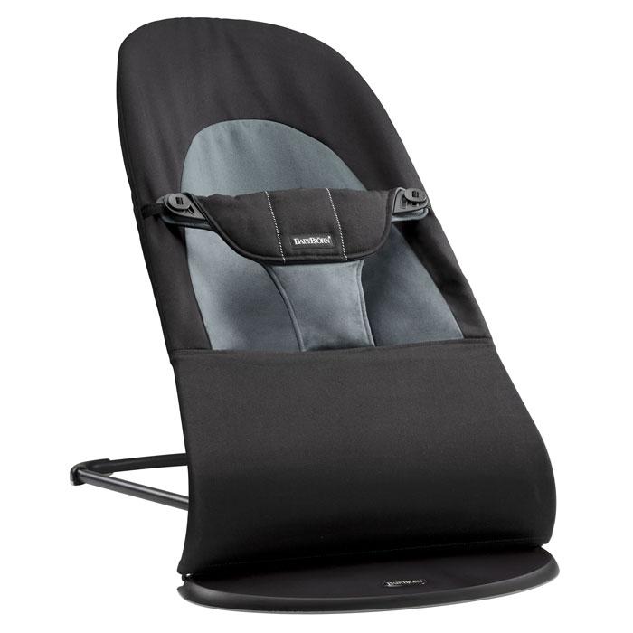 Кресло-шезлонг BabyBjorn Balance Soft, цвет: темно-серый кресла качалки шезлонги babybjorn кресло шезлонг bliss mesh