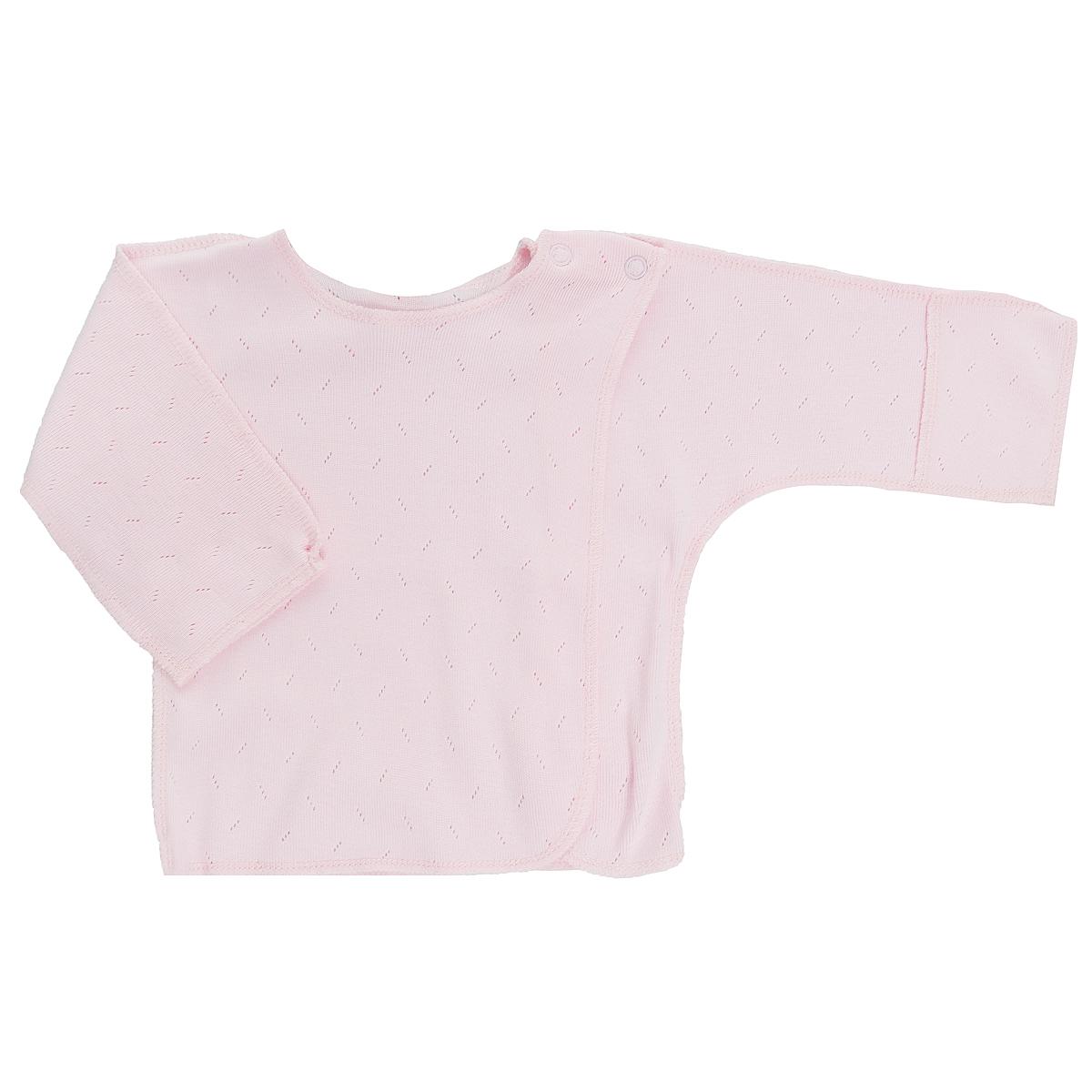 Распашонка Lucky Child Ажур цвет: розовый. 0-8. Размер 56/620-8Распашонка для новорожденного Lucky Child Ажур с длинными рукавами послужит идеальным дополнением к гардеробу вашего малыша, обеспечивая ему наибольший комфорт. Распашонка изготовлена из натурального хлопка, благодаря чему она необычайно мягкая и легкая, не раздражает нежную кожу ребенка и хорошо вентилируется, а эластичные швы приятны телу малыша и не препятствуют его движениям.Распашонка-кимоно для новорожденного, выполненная швами наружу, и украшенная ажурным узором, имеет кнопки по плечу, которые помогают с легкостью переодеть малыша. А благодаря рукавичкам ребенок не поцарапает себя. Ручки могут быть как открытыми, так и закрытыми. Распашонка полностью соответствует особенностям жизни ребенка в ранний период, не стесняя и не ограничивая его в движениях. В ней ваш малыш всегда будет в центре внимания.