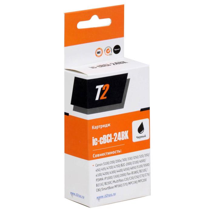 T2 IC-CBCI-24BK картридж для Canon S100/300/i250/BJC-2100/4200/5500/PIXMA iP1500/2000, BlackIC-CBCI-24BKКартридж T2 IC-CBCI-24BK с черными чернилами для принтеров и МФУ Canon. Картридж собран из японских комплектующих и протестирован по стандарту STMC.