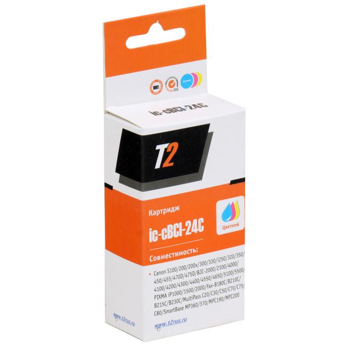 T2 IC-CBCI-24C картридж для Canon S100/300/i250/BJC-2100/4200/5500/PIXMA iP1500/2000 картридж t2 ic cbci 24c цветной