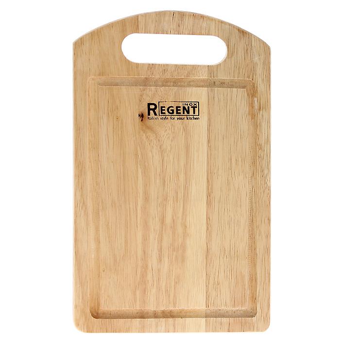 Доска разделочная Regent Inox, из гевеи, 26 х 16 х 1,2 см93-BO-1-04.1Прямоугольная разделочная доска Regent Inox изготовлена из высококачественной древесины - гевеи. Доска имеет углубление для стока жидкости вдоль края и специальное отверстие, при помощи которого ее можно подвесить в удобном месте. Прекрасно подходит для приготовления и сервировки пищи.Гевея - высококачественная порода каучукового дерева. Доски из гевеи, по сравнению с досками, изготовленными из других материалов, обладают следующими преимуществами:- долговечность- практичность- устойчивость к механическим нагрузкам- водоотталкивающие свойства- не впитывают запахи- не расслаиваются и не рассыхаются- не тупят ножи- оригинальный дизайн. На кухне рекомендуется иметь несколько досок, для различных продуктов: для мяса и птицы, для рыбы, для готовых продуктов, для хлеба, овощей и фруктов. Regent Inox предлагает на выбор несколько размеров и форм разделочных досок, а так же кухонные аксессуары из дерева. Характеристики:Материал: гевея. Размер:26 см х 16 см х 1,2 см. Артикул:93-BO-1-04.1.