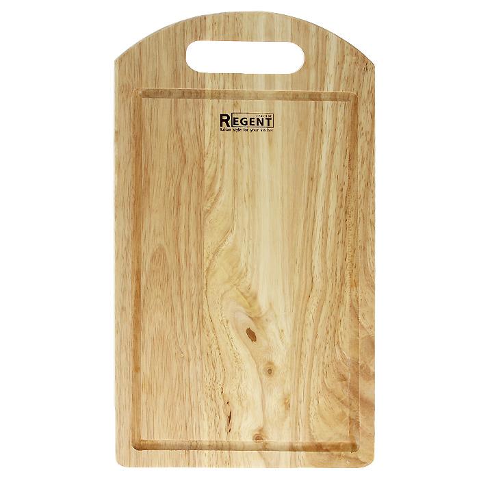 Доска разделочная Regent Inox, из гевеи, 36 х 20 х 1,2 см93-BO-1-05Прямоугольная разделочная доска Regent Inox изготовлена из высококачественной древесины - гевеи. Доска имеет углубление для стока жидкости вдоль края и специальное отверстие, при помощи которого ее можно подвесить в удобном месте. Прекрасно подходит для приготовления и сервировки пищи.Гевея - высококачественная порода каучукового дерева. Доски из гевеи, по сравнению с досками, изготовленными из других материалов, обладают следующими преимуществами:- долговечность- практичность- устойчивость к механическим нагрузкам- водоотталкивающие свойства- не впитывают запахи- не расслаиваются и не рассыхаются- не тупят ножи- оригинальный дизайн. На кухне рекомендуется иметь несколько досок, для различных продуктов: для мяса и птицы, для рыбы, для готовых продуктов, для хлеба, овощей и фруктов. Regent Inox предлагает на выбор несколько размеров и форм разделочных досок, а так же кухонные аксессуары из дерева. Характеристики:Материал: гевея. Размер:36 см х 20 см х 1,2 см. Артикул:93-BO-1-05.