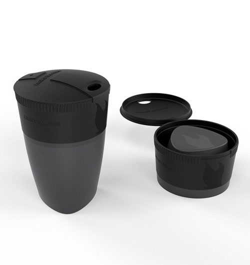 Складной стакан Light My Fire Pack-up-Cup, 260 мл, цвет: черный42392010Складная кружка Pack-up-Cup. Кружка отлично подходит для использования как в походе, так и в офисе. Компактно складывается для более удобной переноски, в рабочем состоянии может вмещать до 260 мл жидкости. При необходимости кружку легко можно поместить в MealKit или в LunchKit.