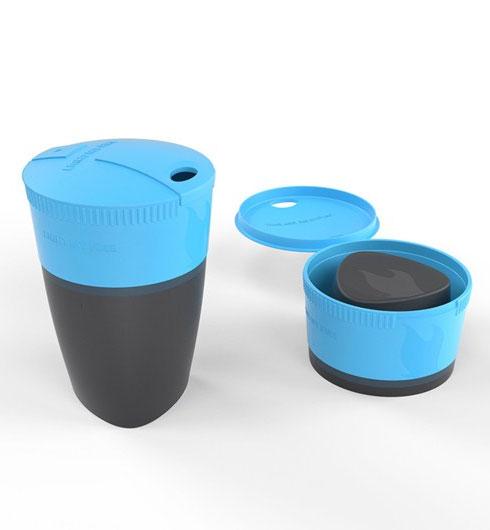 Складная кружка Pack-up-Cup. Кружка отлично подходит для использования как в походе, так и в офисе. Компактно складывается для более удобной переноски, в рабочем состоянии может вмещать до 260 мл жидкости. При необходимости кружку легко можно поместить в MealKit или в LunchKit.