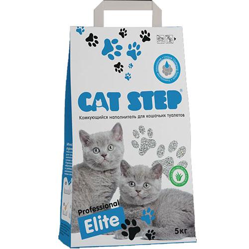 Наполнитель для кошачьего туалета Cat Step Professional Elite, комкующийся, с ароматом Алое Вера, 5 кг наполнитель для кошачьих туалетов кошкин секрет древесный 2 5 кг