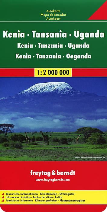 Kenya, Tansania, Uganda: Road Map