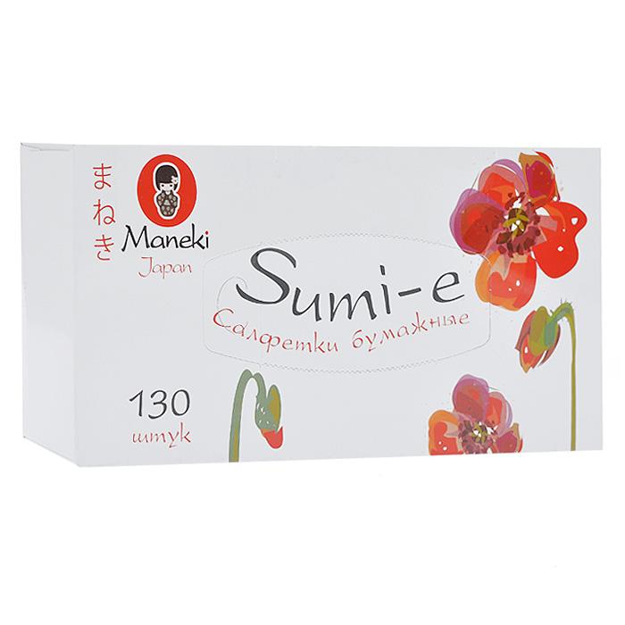 Салфетки бумажные Maneki Sumi-e, двухслойные, цвет: белый, 130 штFT142Двухслойные бумажные салфетки Maneki Sumi-e, выполненные из натуральной экологически чистой целлюлозы, подарят превосходный комфорт и ощущение чистоты и свежести. Необычайно мягкие салфетки с микротиснением не вызывают раздражения, хорошо впитывают влагу и не оставляют бумажной пыли на поверхности. Салфетки подходят для косметических целей.Салфетки хранятся в специальной картонной коробке с отверстиями для удобного извлечения. Характеристики:Материал: 100% целлюлоза. Количество салфеток: 130 шт. Количество слоев: 2. Количество листов: 260. Размер листа: 21 см х 19,6 м. Размер упаковки: 24 см х 11,5 см х 5 см. Артикул: FT142.