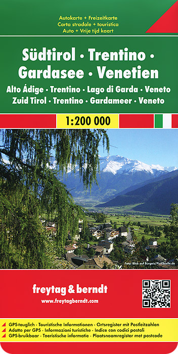 South Tyrol: Trentino, Lake Garda, Venezia: Road and Leisure Map lower saxony and bremen road map and leisure map