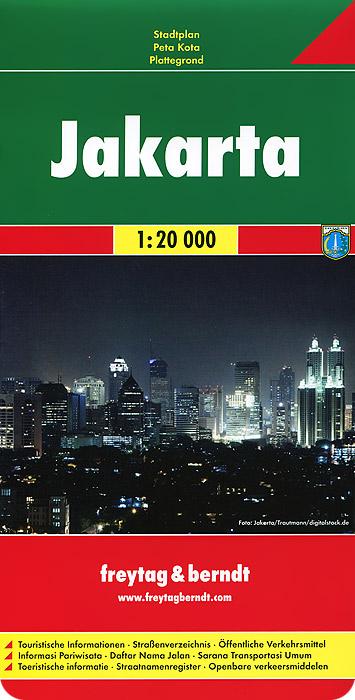 Jakarta: City Map brussels city street map