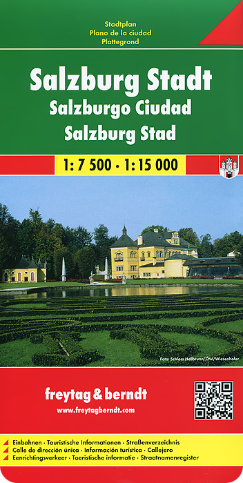 Salzburg City: City Map salzburg leisure atlas salzburg freizeitatlas