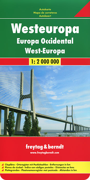 Europe West: Autokarte книги издательство вече 100 великих полководцев западной европы