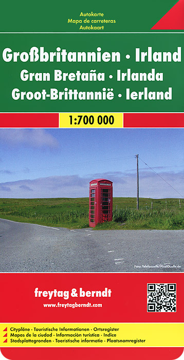 Great Britain: Ireland: Road Map great north road