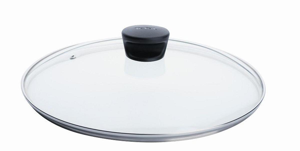 Крышка стеклянная Tefal. Диаметр 22 см040 90 122Крышка Tefal изготовлена из термостойкого стекла. Обод, выполненный из высококачественной нержавеющей стали, защищает крышку от повреждений, а ручка, выполненная из термостойкого пластика, защищает ваши руки от высоких температур. Крышка удобна в использовании, позволяет контролировать процесс приготовления пищи. Имеется отверстие для выпуска пара. Крышка подходит для сковород и сотейников всех серий марки Tefal. Можно мыть в посудомоечной машине. Характеристики:Материал: стекло, нержавеющая сталь, пластик. Диаметр: 22 см. Артикул: 040 90 122.