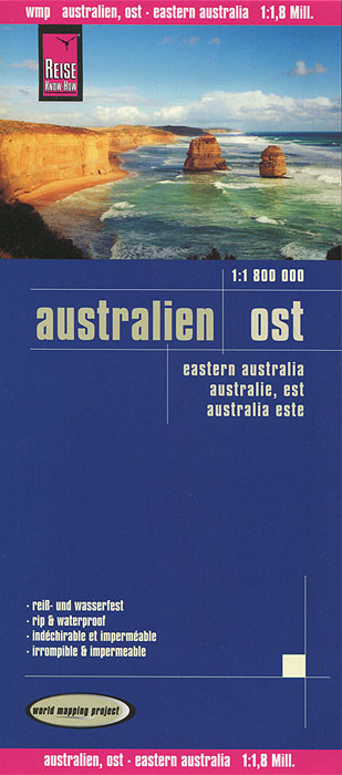 Australien. Ost. Карта australien карта