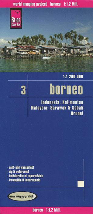 Indonesien. Borneo. Карта borneo 2013