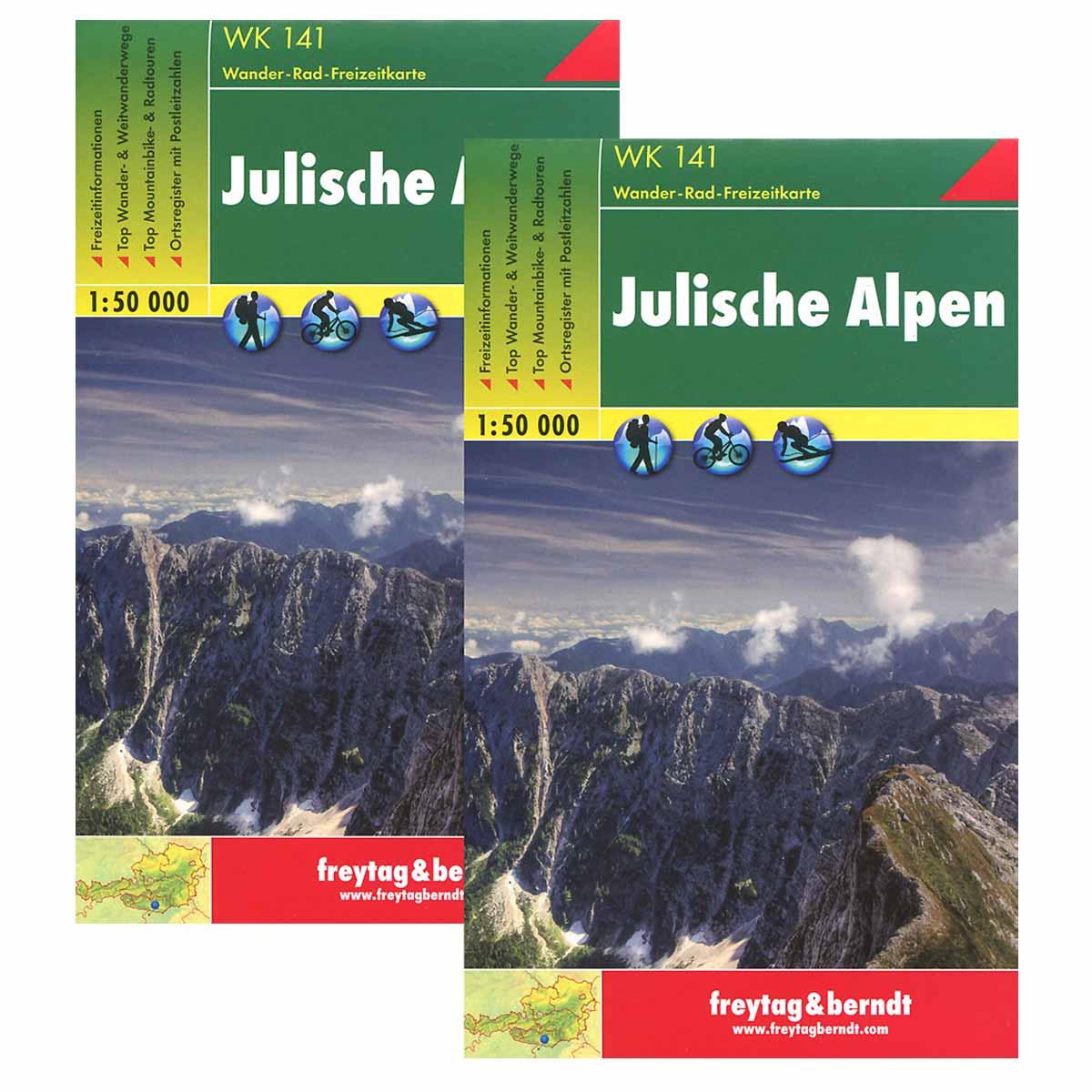 Julische Alpen. Wander-Rad-Freizeitkarte